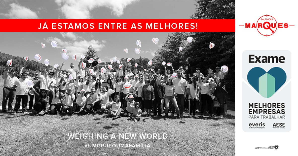 Balanças Marques nas Melhores Empresas Para Trabalhar em Portugal