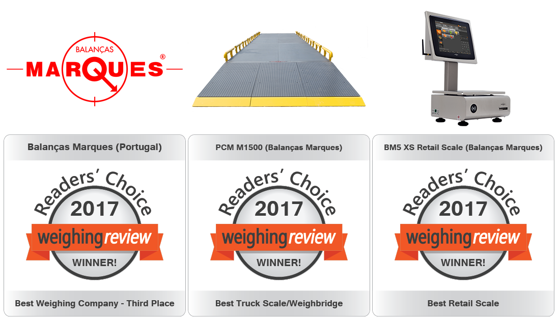Balanças Marques elected the third best weighing company in the world!