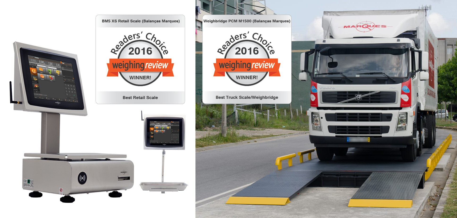 Balanças Marques products win international weighing awards
