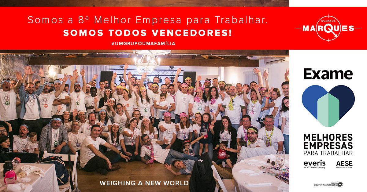 8ª Melhor Empresa Para Trabalhar em Portugal